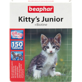 Beaphar Kitty's Junior + biotín 150ks